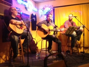 Dan Lowe, Ron Shaffer, and Matt Price (L. to Rt.) the night after Tin Pan South at Bobby's Idle Hour in Nashville
